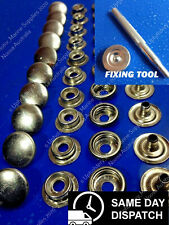 316 Stainless Steel Press Studs 20 Stud Sets Marine Snap Fasteners TOOL INCLUDED