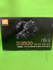 Nikon D3500 24.2MP with 18-55mm VR Lens Kit DSLR Camera - Black Good Condition