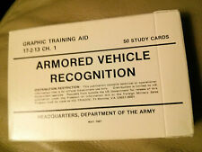 Army Surplus Study Cards- 1987 Armored Vehicle Recognition- 50 cards