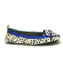 NEW Yosi Samra YS Foldable Flat loafer White Dalmatian Packable Ballet Pick Size
