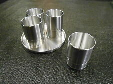 "SHOT GLASS SET CUSTOM CNC MACHINED SNAP-ON SOCKET REPLICA ""SET OF 4 WITH TRAY"""