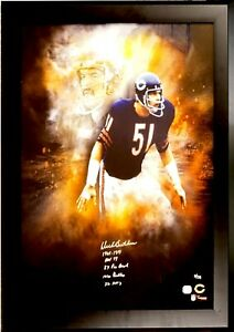 DICK BUTKUS NFL Chicago Bears 2 x Authentic Signed Framed Poster w PSA/DNA LOA