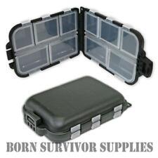 MINI SNAP SHUT BIT BOX - Pocket Sized Fishing Tackle Storage Container Pill Box