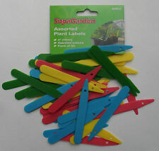 Assorted Coloured Plastic Plant or Seed Labels Tags 10cm pack 50 by Supagarden