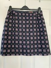 Navy Check Boden Tweed Skirt Size 12 (British Tweed By Moon)