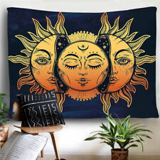 Tapestry Psychedelic Moon And Sun Wall Hanging Art Home Decor