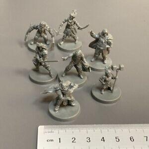 7X Warriors Fighter Blacklist Miniatures: Fantasy Series 1 Board Game Figure Toy