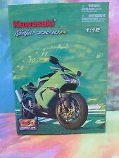 1/12 Scale Maisto Kawasaki Ninja ZX-10R Motorcycle Assemblt Line Die Cast Metal