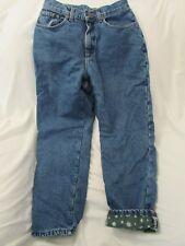 """Ladies """"L.L. Bean"""" Size W26 X L27, Blue, Insulated, Straight Leg Jeans"""