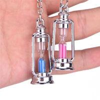 Fashion Novelty Metal Hourglass Key Chain Key Ring Couples Trinket Key chain