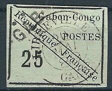 Gabun - Freimarken Type Gabon-C gestempelt Handstempelaufdruck 1889 Mi. 15