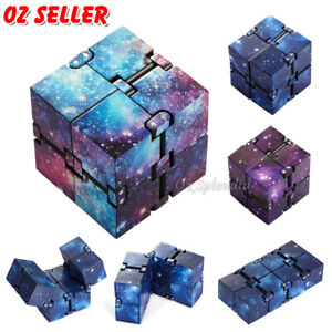 Plastic Infinity Cube Puzzle Fidget Flip Autism ADHD Sensory Stress Relief Toys