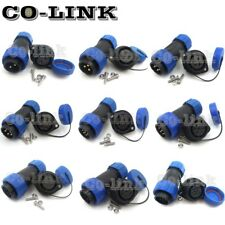 Sp21 2 12pin Waterproof Connector Ip68 Power Cable Aviation Bulkhead Connectors