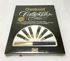 Sealed New Osmiroid Deluxe Calligraphy Set - Nibs w/ 22k Gold Plating - Vintage