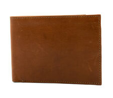 Perry Ellis Portfolio Mens Bifold Leather Card Wallet Brown