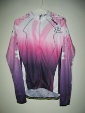 NWT SANTIC Long Sleeve  FULL ZIP CYCLING JERSEY - SIZE Large
