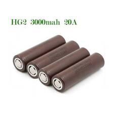 4x LG 18650 HG2 3000mAh 20A Rechargeable High Drain Li-ion Battery Flat Top
