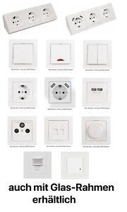 Steckdosenblock,Wechselschalter,Taster,Licht-Schalter,Dimmer,Steckdose USB