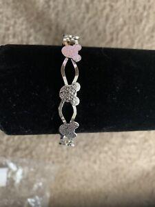 Silver Color Mickey Mouse Bangle Bracelet