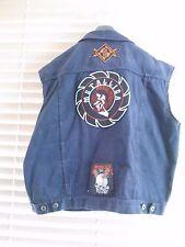 Vintage Disclipe Denim Jacket Jean Rock Patches MotorHead Metallica ACDC Led Z