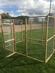 Aviary Run Panel 9ft x 6ft Size With Door Run 19G Chicken Rabbits Puppy Dogs