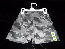 PEANUT & OLLIE BOY'S 6/9 MONTHS GREY CAMO PRINT SHORTS NEW WITH FREE SHIPPING~~`