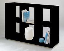 Raumteiler Aufbewahrung Regal Ablage Bücherregal Wandregal 2x3 Schwarz Hochglanz