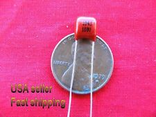 4pc - .1uF  (0.1uf)  100V 10% radial metalized film capacitor FREE SHIPPING