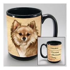 Chihuahua Tan Long Hair Faithful Friends Dog Breed 15oz Coffee Mug Cup