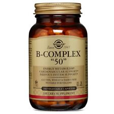 "Solgar B-Complex ""50"" 100 Vegetable Capsules FREE Shipping Made in USA FRESH"