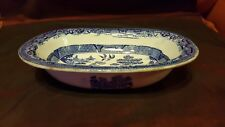 Early Spode late 18th Century or Early 19th  Old Willow Serving Dish