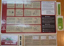 Troy Bilt Horse Tine Hood Decal Horse 3    Part No 2412(6/84)  Master Kit