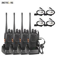 4× Walkie Talkie Retevis H777 UHF 5W 16CH 2-Way Radio+ 4 ×PTT In-ear Earpiece US