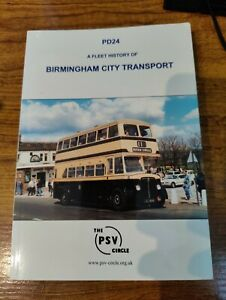 PSV Circle PD24 Birmingham City Transport Fleet History
