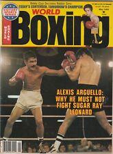WORLD BOXING MAGAZINE ALEXIS ARGUELLO-ROBERT ELIZONDO-BOBBY CZYZ MAY 1982