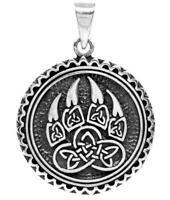 Viking Silber Amulett Keltenschmuck Anhänger Pendant 925 Celtic Kette Bärenklaue