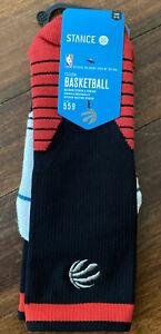 Stance Fusion Basketball x NBA Toronto Raptors Socks Logo Crew Size L Shoe 9-12