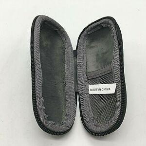 "Co2Crea 5"" Small Zipper Case. New Black w/ Gray inside w/ Pocket."
