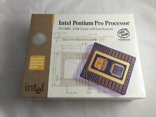 "Intel Pentium Pro CPU NEW in Box Vintage Collectible Rare HIGH GOLD Scrap ""NO"":)"
