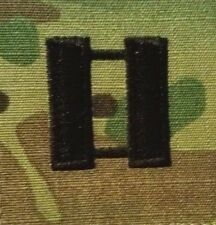 US Army Rank O3 Captain OCP/MultiCam Pair of Sew On Patches    Made in USA