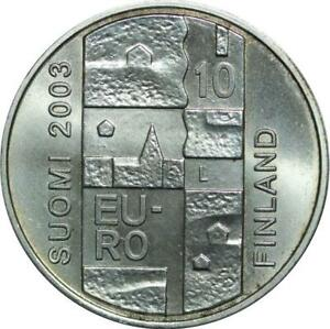 P5498 Finland 10 Euro Anders Chydenius 2003 Silver UNC -> M Offer