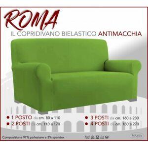 Housse de canapé universelle élastiquée et résistante aux taches ROMA VERT