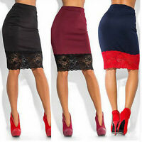 Sexy Women Formal Lace Stretch High Waist Short Bodycon Mini Skirt Pencil Dress