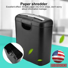 Electric Home Office Shredder Cutter 6 Paper Heavy Duty Credit Card Shredder US