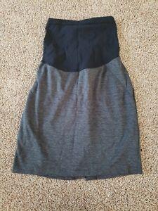 Gray Maternity Skirt Size Small, Casual Maternity Skirt Short