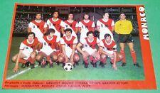 RARE CLIPPING FOOTBALL 1977 1978 AS MONACO LOUIS II ASM ETTORI