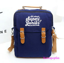 Super Junior superjunior sj canvas schoolbag BLUE backpack KPOP NEW