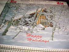 Lot of 8 Old Calendars HURON LANDMARK INC NORWALK ELEVATORS HAPPY  HOLIDAYS 619