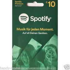DE Spotify Premium Guthabencode/Gutschein Karte / PIN-Code 10 EUR per Email