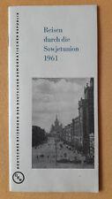 Broschüre Reisen durch die Sowjetunion 1961, Deutsches Reisebüro der DDR